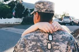 military spouse from the back